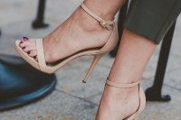 26 nude high heel strappy sandals