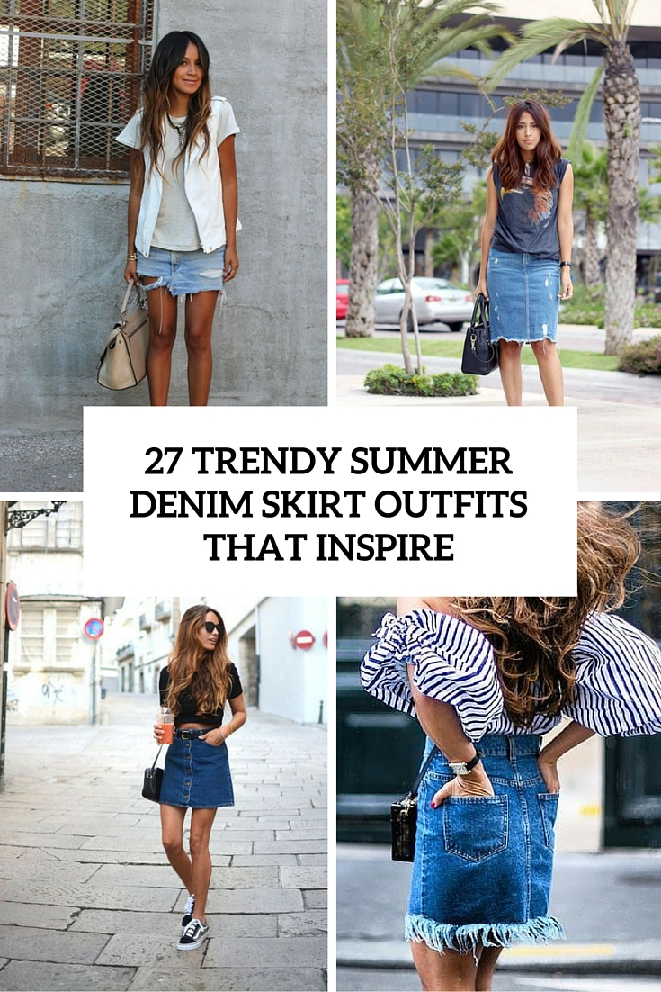 54d3ca5f7f67 27 Trendy Summer Denim Skirt Outfits That Inspire - Styleoholic