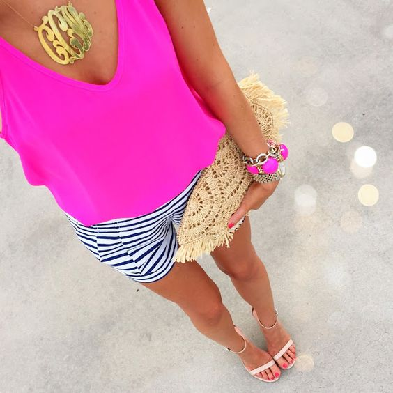 bold fuchsia top for summer