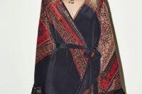 Boho chic wrap dress