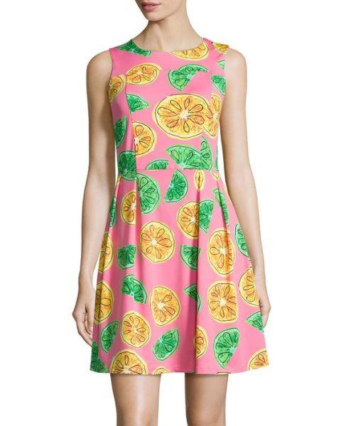 Bright fruit print dress