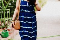 Comfy maxi tie dye dress for summer days