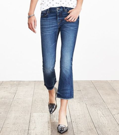 Cool cropped flared jeans