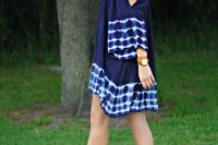 Cool off the shoulder tie dye dress and eye-catching heels