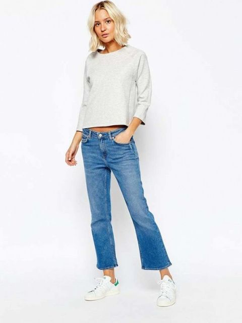 21 Cool Cropped Flare Jeans Ideas - Styleoholic