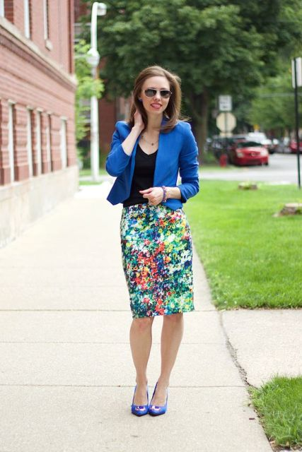 Eye-catching skirt with jacket