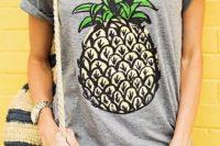 Funny fruit print t-shirt idea