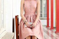 Gentle pink shirtdress