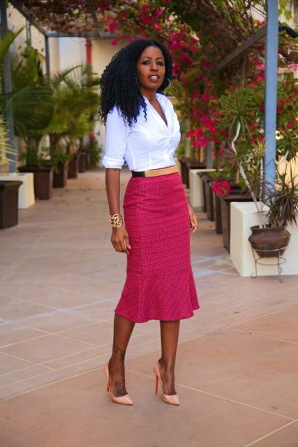23 Awesome Trumpet Skirt Outfits For Summer Styleoholic