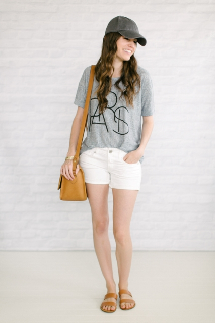 21 Stunning White Shorts Outfits For This Season Styleoholic
