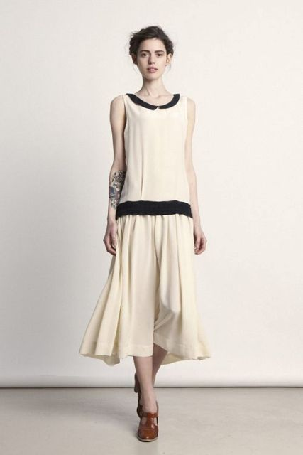Retro-styled drop waist dress