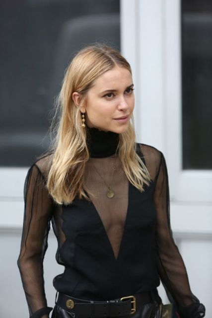 Sexy sheer blouses