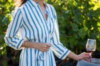 Stripe print shirtdress idea
