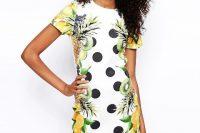 Stylish fruit print dress