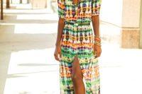 Summer maxi tie dye dress