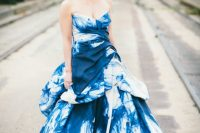 Tie dye wedding dress