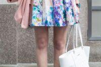 Watercolor mini skirt