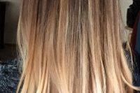 balayage brown to blond hair