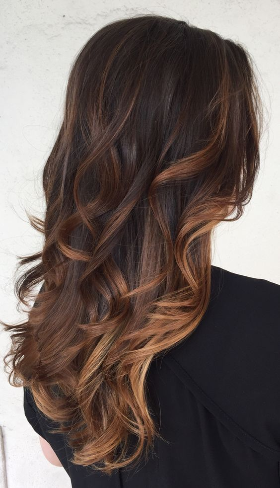 Ash Brown Caramel Highlights Dark Brown Hairs