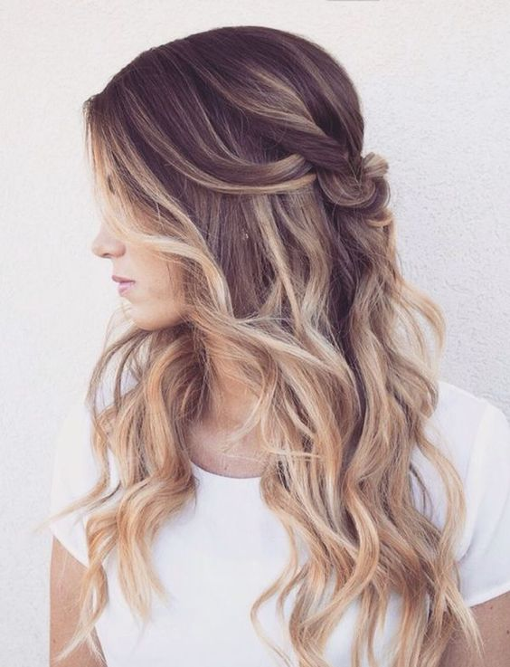 6 tips to ombre your hair and 29 examples styleoholic brown to blond ombre wavy hair urmus