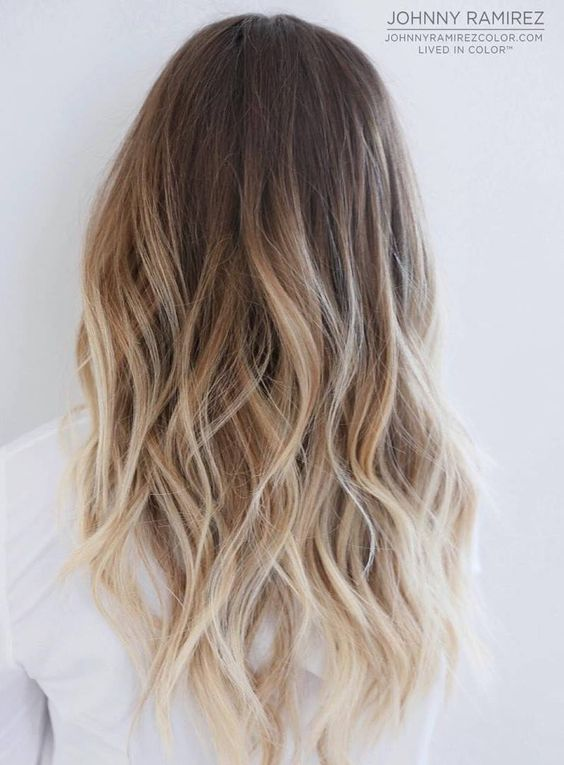brown to blonde long hair