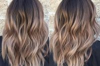 brown to caramel ombre hair