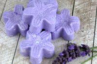 DIY lavender bath bomb fizzies