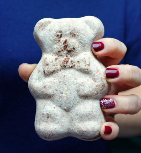 DIY cocoa bear bath bombs