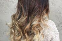 dark brown to blond hair