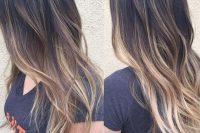 dark to blond balayage long hair