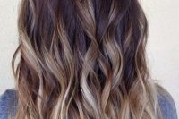 dark to fair wavy hair