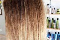 long bob brown to blond