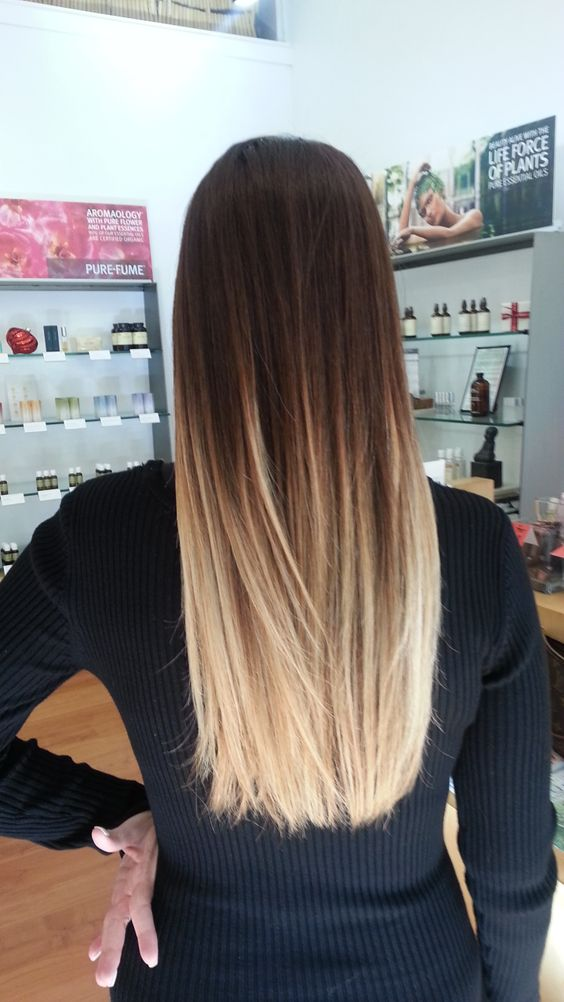 6 tips to ombre your hair and 29 examples styleoholic long brown to blond straight hair urmus Image collections