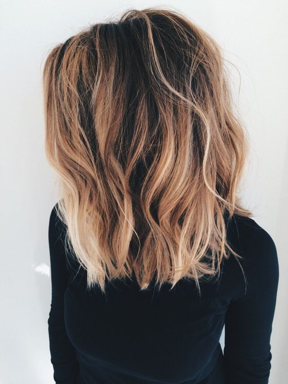 ombre shoulder-length hair