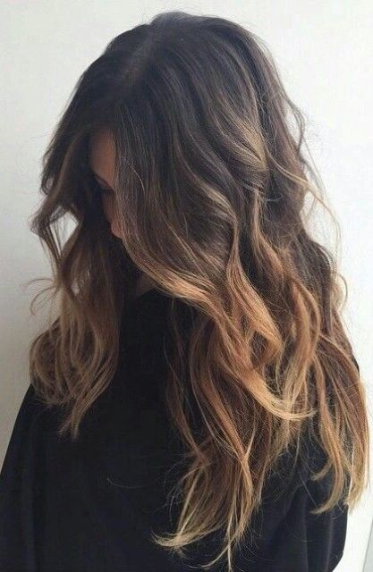 6 tips to ombre your hair and 29 examples styleoholic wavy brown to caramel long hair urmus Image collections