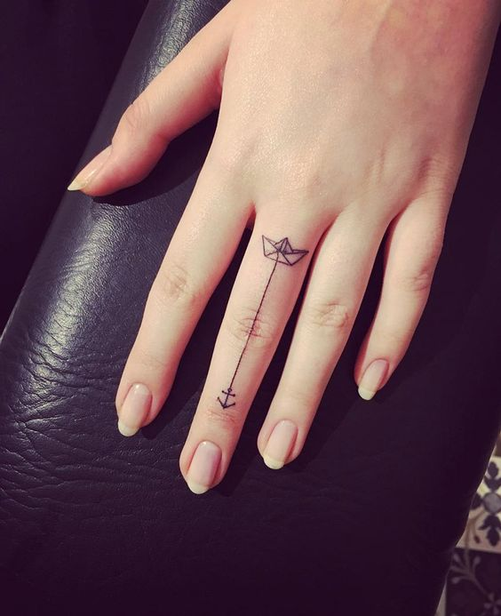 boat and anchor on a finger
