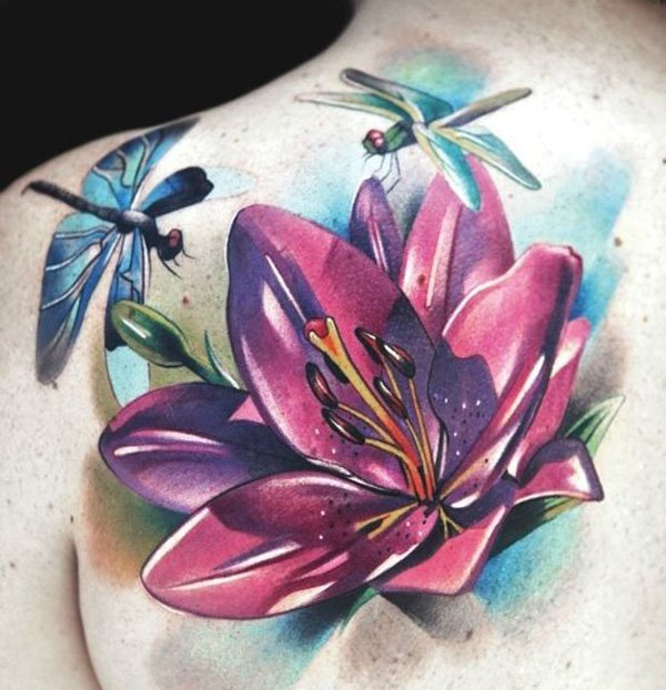 27 gorgeous lily tattoos that stand out styleoholic