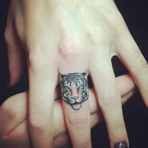 tiger on a finger