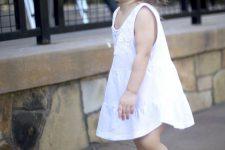 12 white lace dress and chucks