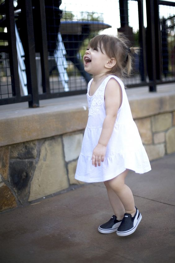 white lace dress and chucks