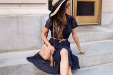 13 black lace dress with black flats