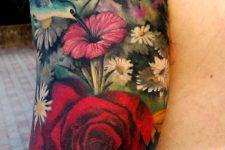 13 bold floral tattoo sleeve
