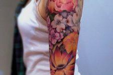 14 vibrant floral sleeve