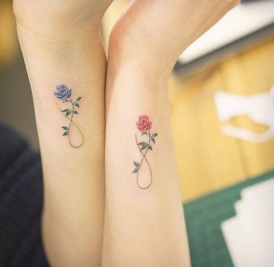 Skin Colors 15-matching-roses-arm-tattoos
