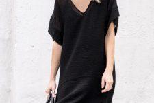 18 sheer black maxi dress