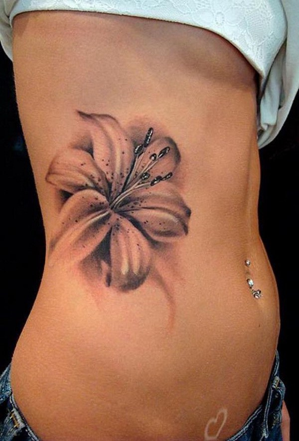 b799534fe 27 Gorgeous Lily Tattoos That Stand Out - Styleoholic