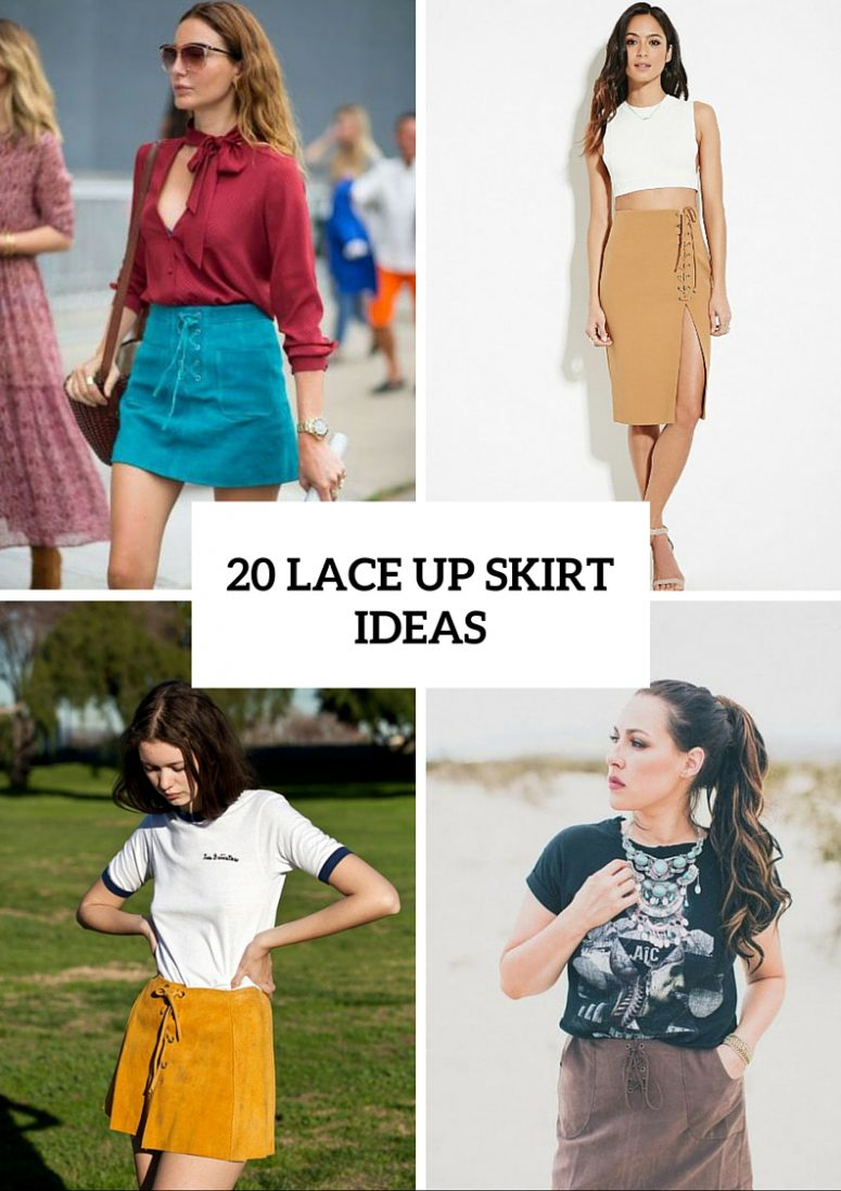 20 Cool Lace Up Skirt Outfits To Repeat
