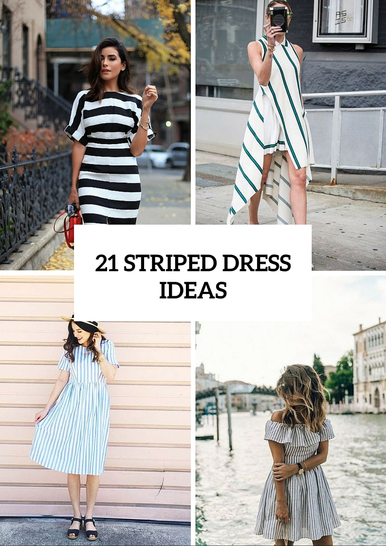Amazing Striped Dress Ideas For Summer