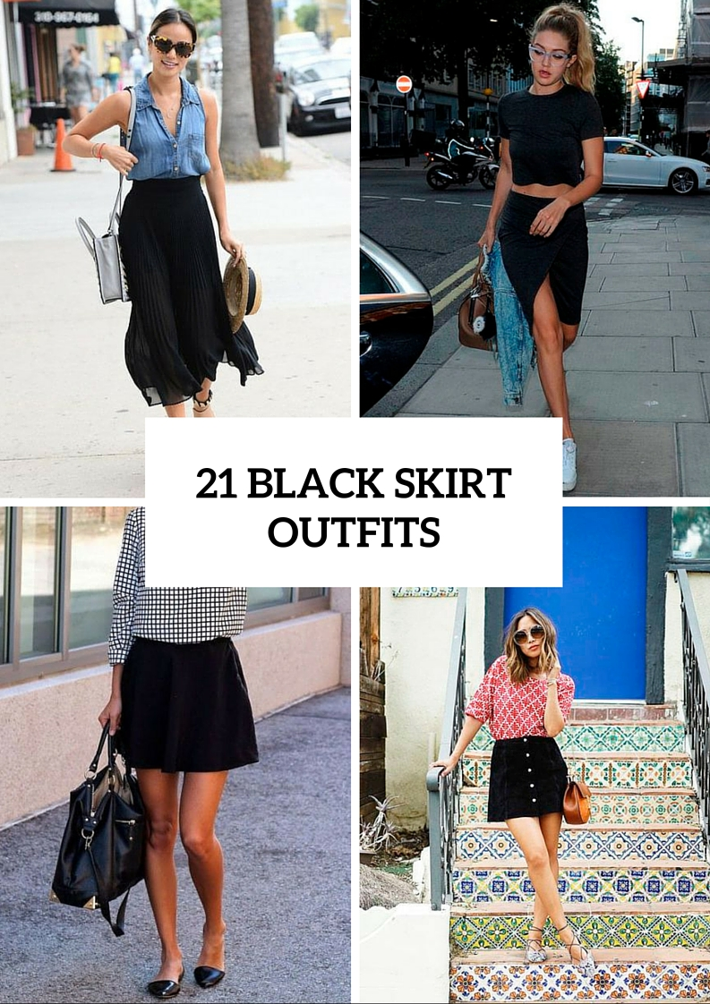 21 Chic Black Skirt Outfits To Try