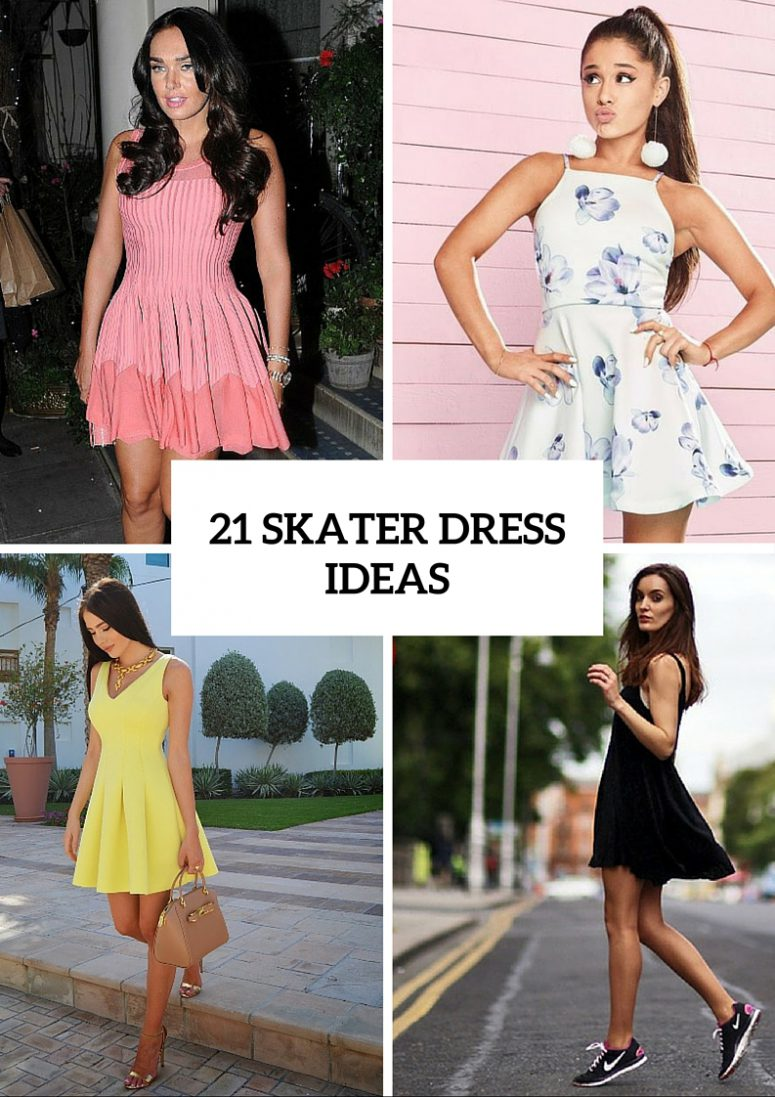1168fdfb6559 21 Feminine Skater Dress Outfit Ideas For Summer - Styleoholic